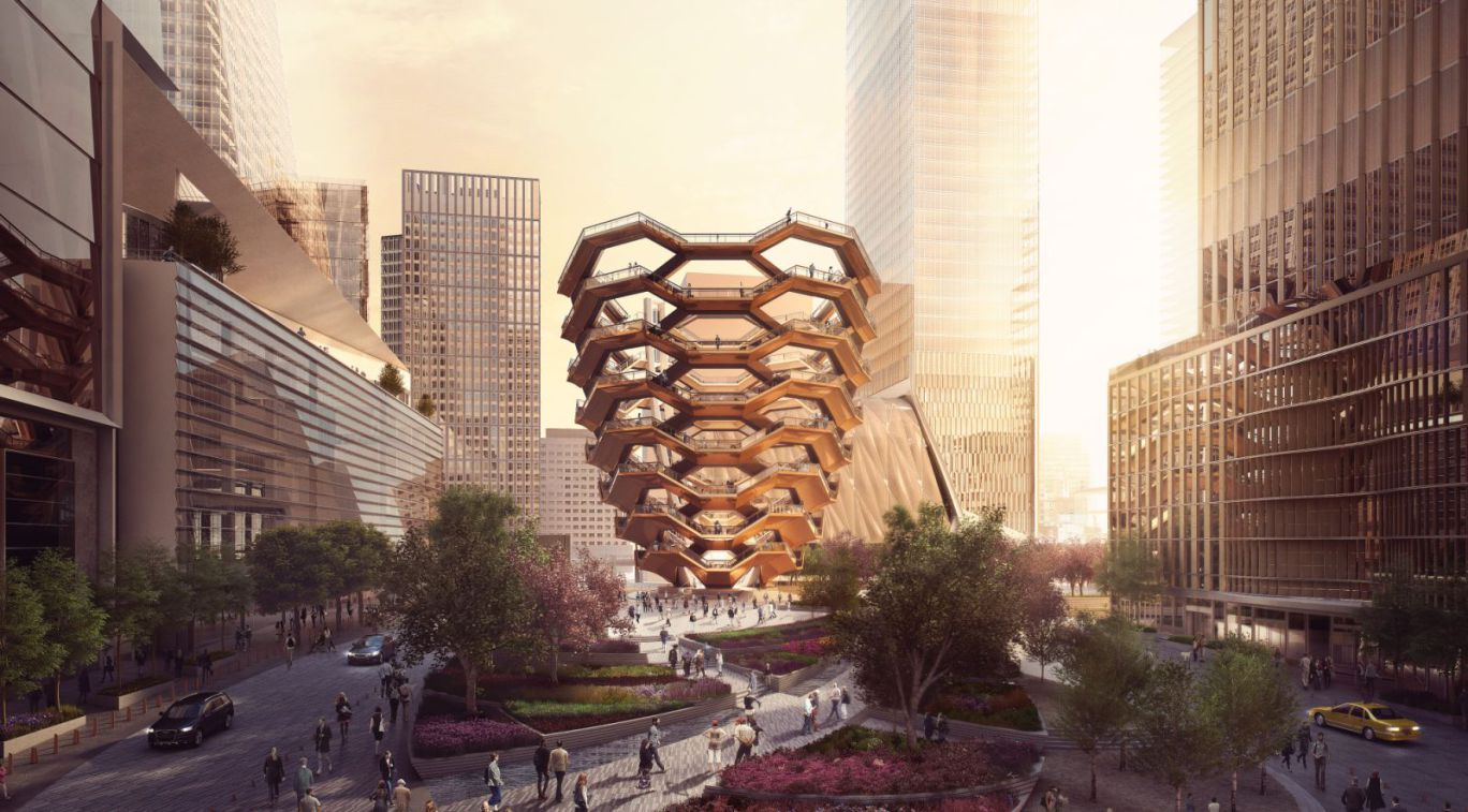 "Heatherwick's New York ""Eiffel Tower"" underway"
