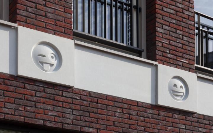 Emoji symbols adorn Dutch urban design
