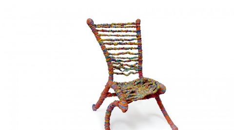 Designer uses 65,000 rubber bands and takes 336 hours to make exclusive chair