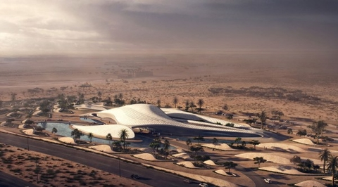 Zaha Hadid-designed Bee'ah HQ tops out in Sharjah