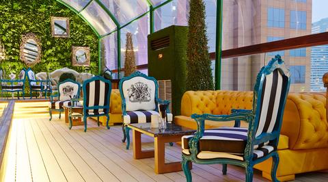 Vii lounge Dubai: Rooftop terrace design