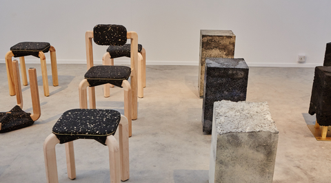 Design Days Dubai: Ammar Kalo and Architecture + Other Things create furniture from recycled car tires