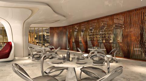Bishop Design reveals versatile dining space for Zaha Hadid-designed The Opus in Dubai