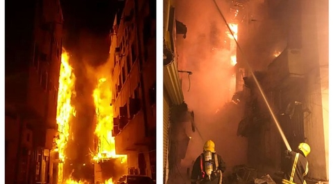 Fire tears through six buildings in UNESCO-preserved historic district in Jeddah