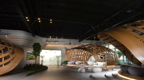 Bluehaus creates biophilia-inspired Jetex VIP lounge for Al Maktoum Airport in Dubai