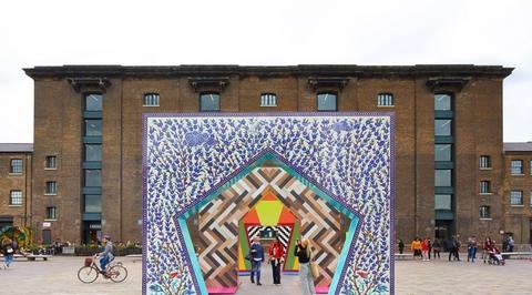 Adam Nathaniel Furman's tiled gates for London Design Festival celebrates Islamic motifs