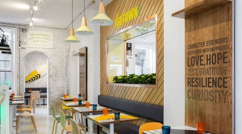 Dubai-based Brand Creative develops interiors and branding for healthy eatery in London