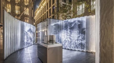 Pritzker-winning RCR Arcquitectes designs glass pavilion in Dubai's financial district