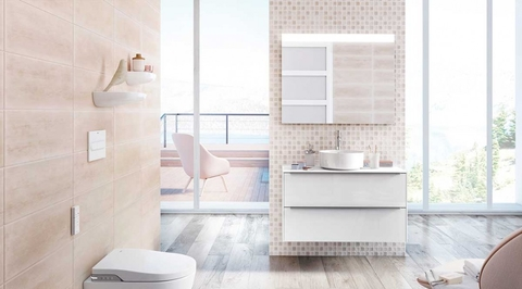 Bathroom design is getting bolder in its choice of colours, textures, materials and technology