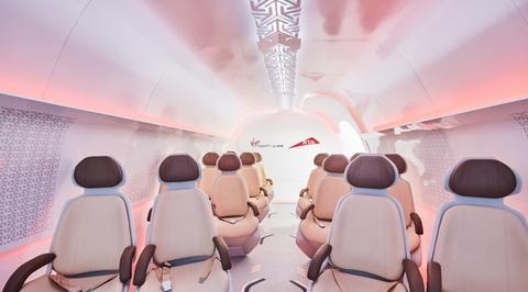 Video: Inside the first prototype of a Dubai hyperloop passenger pod