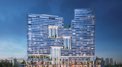 Images revealed for Foster + Partner's hotel and residential project on Dubai Canal