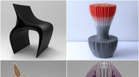 Zaha Hadid Architects designs 3D-printed chairs for new Spanish firm Nagami