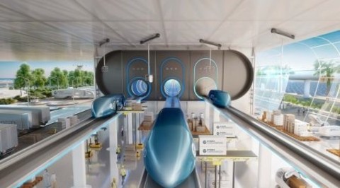 Foster + Partners' new high-speed cargo transport concept will premiere in Dubai