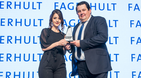 Rasha Al-Tekreeti wins the Young Interior Designer of the Year trophy at the Commercial Interior Design Awards 2018