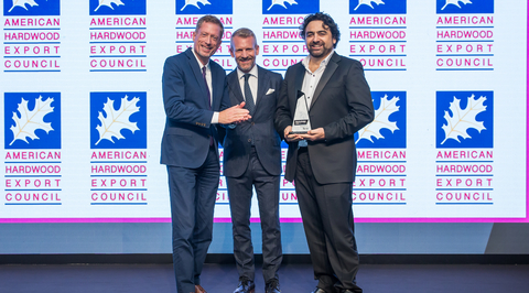 Pandre Special Architecture recieves award for Outstanding Use of American Hardwoods in a Middle East Project prize at 2018 CID Awards