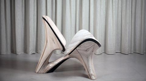 Zaha Hadid Architects reinterprets iconic 1963 lounge chair by Hans J. Wegner