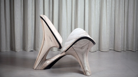 Zaha Hadid Architects reinterprets iconic 1963 lounge chair by Hans J. Wegner