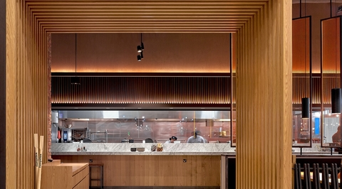 Studio EM designs a new Wagamama outlet showcasing an extensive use of wood