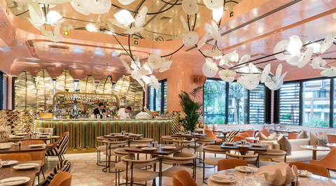 Basstudio-designed Flamingo Room by tashas re-opens