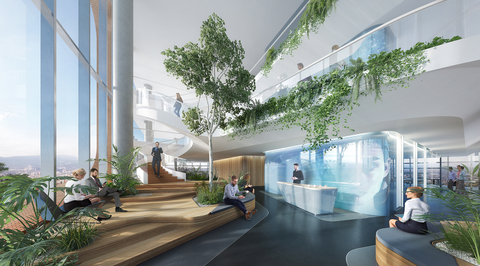 """UNStudio's financial centre for Tbilisi bank moves away from """"rigid"""" workplace set up"""