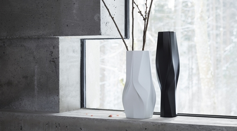 Zaha Hadid Architects designs a set of fluid porcelain vases for Rosenthal
