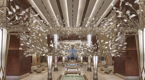 Lighting installation at Mandarin Oriental Jumeira by Preciosa fuses craftsmanship with technology