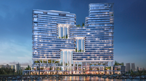 Foster + Partners-designed Dorchester hotel in Dubai to be completed by 2020