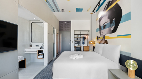 Take a look inside Bishop Design's cinema-themed Studio One Hotel in Dubai