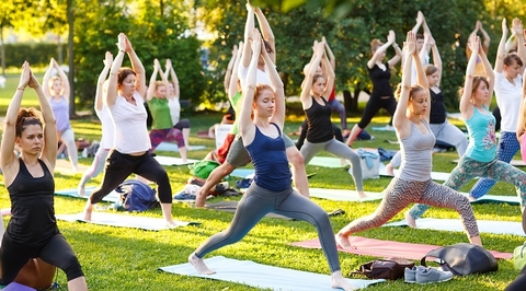 Relax with free yoga at Covering Concepts' d3 office
