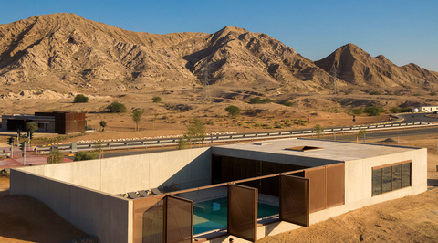 Anarchitect's Al Faya Lodge blends indoor and outdoor spaces to highlight Sharjah's desert landscape