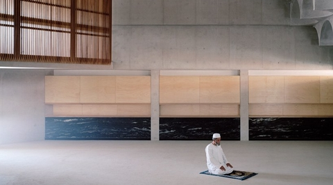 A look inside the concrete and wooden interiors of brutalist mosque in Australia