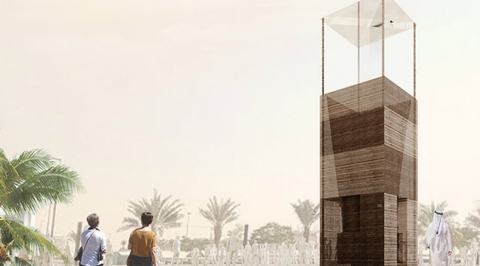 Wind tower-inspired installation for Dubai Design Week to be created from reclaimed cardboard