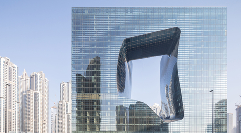 Images revealed for almost-completed Opus building by Zaha Hadid
