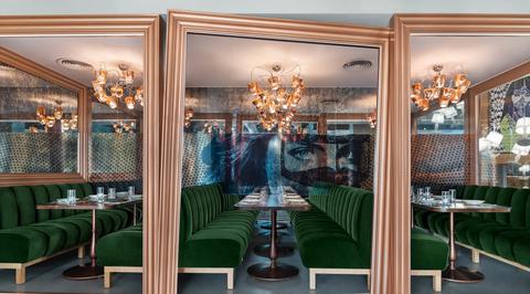 Bishop Design creates 'instagrammable paradise' for Emirati restaurant Falla