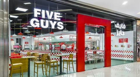Five Guys opens Studio EM-designed Dubai Festival City Mall branch