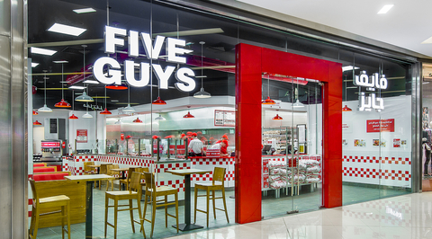 Five Guys opens Studio EM-designed Dubai Festival City Mall branch
