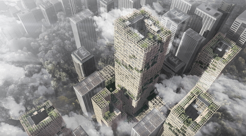 Wooden skyscrapers can aid in creating environmentally friendly cities says Nikken Sekkei