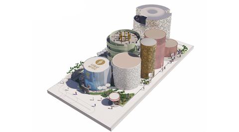Futuristic oil storage tanks form ENOC's Expo 2020 Dubai pavilion