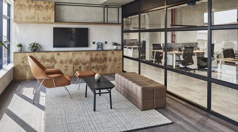 Swiss Bureau creates industrial loft for MEP firm Hira's RAK office