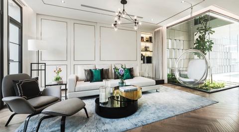 Dwp designs luxury Bangkok townhouse with glass walls