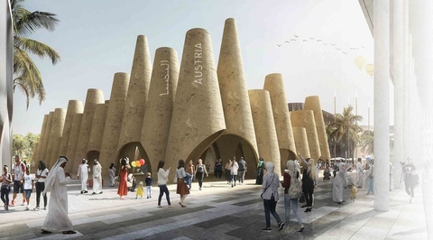 Austria uses world's oldest building material for Expo 2020 Dubai pavilion