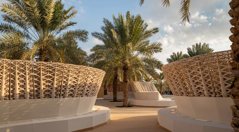 The world's largest 3D-printed sand pavilion unveiled in Saudi Arabia