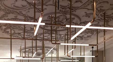 Megre Interiors creates a restaurant inspired by Italian tailoring in the Ritz Carlton Moscow