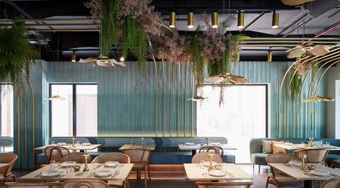 Pallavi Dean's Roar studio draws inspiration from Yarmouk River Valley for the redesign of Dubai's Mezza House restaurant