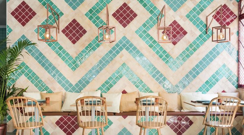 Ceramic tiles at the forefront of Masquespacio-designed restaurant in Valencia