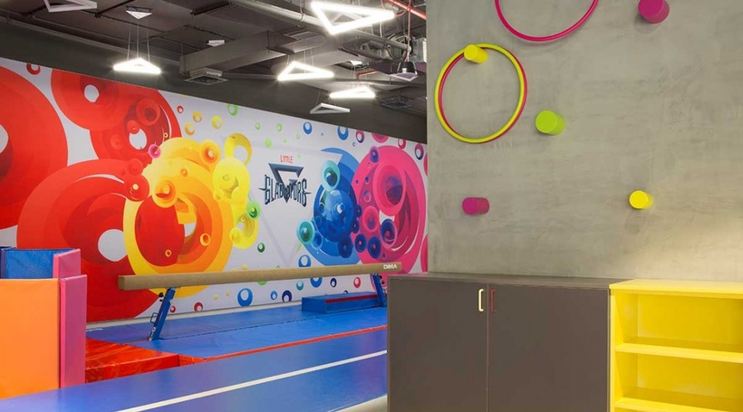 Dubai's VS Design Studio creates a children's gym with sophisticated experiential spaces
