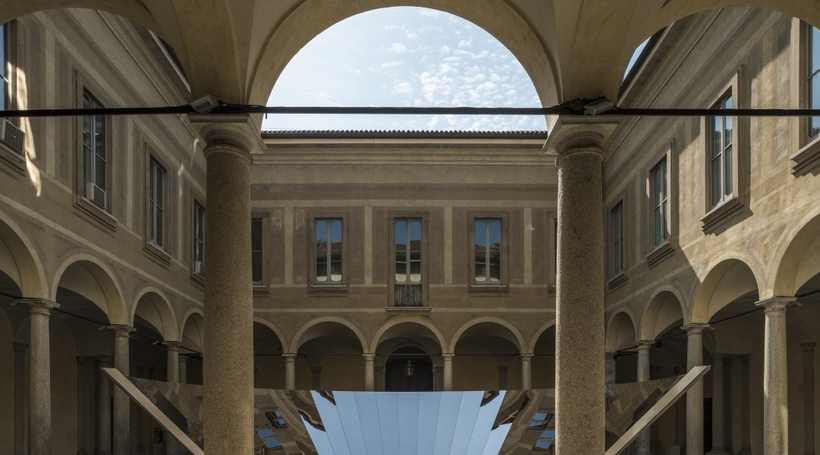Phillip K. Smith III creates reflective installation for COS during Milan Design Week