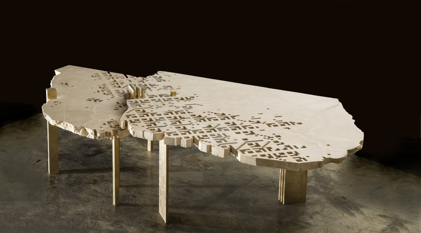 Naqsh Collective to exhibit stone tables inspired by Palestinian embroidery during Venice Design 2018