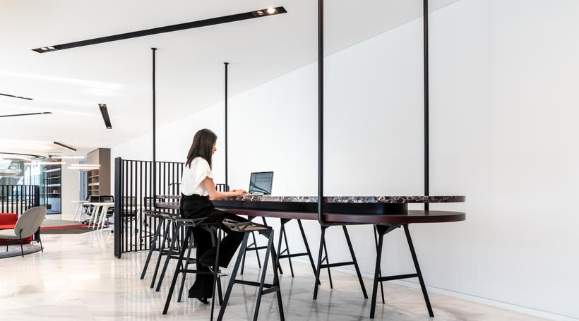 Roar designs flexible work space inspired by the binary code