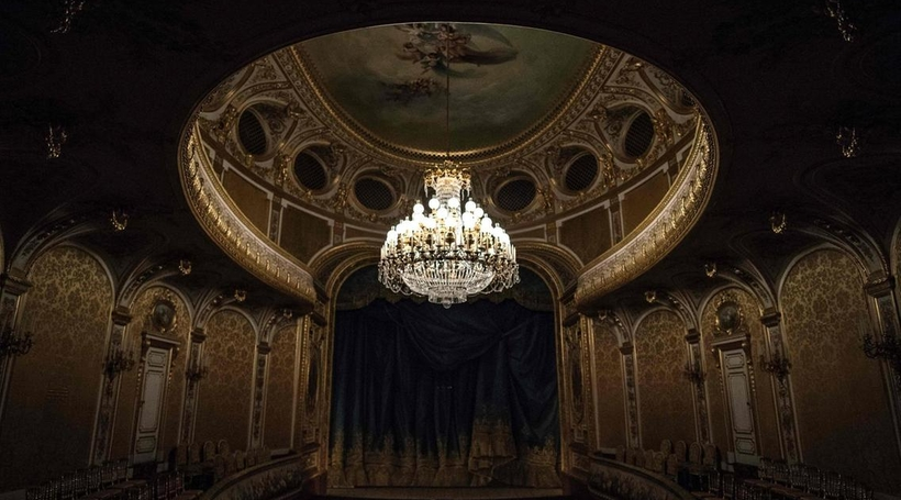 A look inside the opulent French threatre that has recently been restored; funded by UAE president